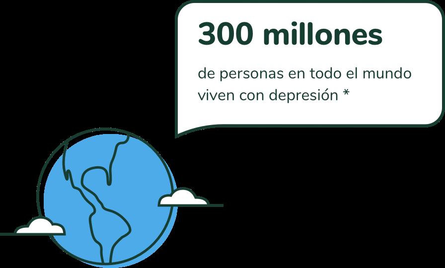 300 millones de personas en todo el mundo viven con depresion *